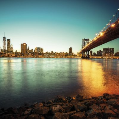 new york, brooklyn bridge, manhattan bridge
